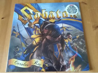 Sabaton - Carolus Rex Lp swedish Lp blå / gul Ltd