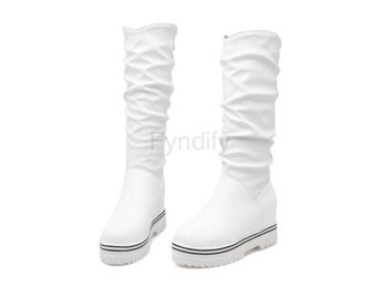 Dam Boots Thick Fur Martin Boot Woman Shoes white 1 40