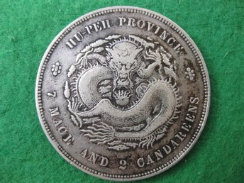 China Hu-Peh dollar ND 1895-1907 silver 27 gram