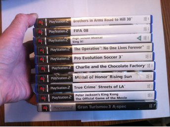 PS2: 10 st PS2 Spel: King Kong, GranTurismo, Medal of Honor