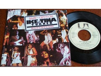 Ike & Tina Turner 45/PS Baby baby get it on 1974 VG++