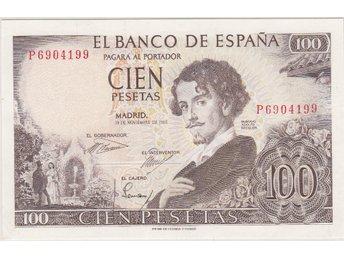 SPANIEN: 100 Pesetas 1965 ovikt - se beskrivning/bilder! - Vagnhärad - SPANIEN: 100 Pesetas 1965 ovikt - se beskrivning/bilder! - Vagnhärad