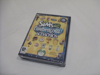 Sims 2 Fashion Factory & Celebrations and Accessories PC CD ROM Portugal utgåva