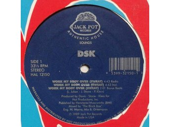 "DSK title* Work My Body Over (Sweat)* Freestyle, House 12"" US"