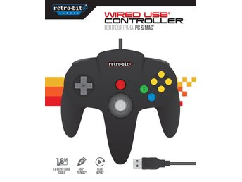 N64 Controller Black USB for PC & Mac...