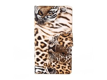 Sony Xperia Z3 Compact Fodral Leopardm?nster Orange