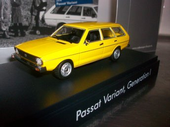 VW Passat Combi 1973 Generation 1 gul 1:43, MINT!