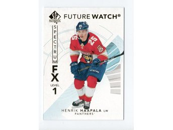 17-18 SP Authentic Spectrum FX Future Watch Bounty Henrik Haapala