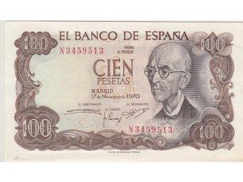 SPANIEN: 100 Pesetas 1970 ovikt - se beskrivning/bilder! - Vagnhärad - SPANIEN: 100 Pesetas 1970 ovikt - se beskrivning/bilder! - Vagnhärad