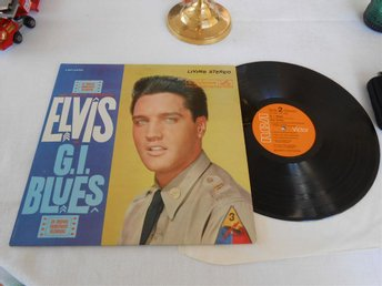Elvis Presley - G. I. Blues orange rigid vinyl USA-press 1968!