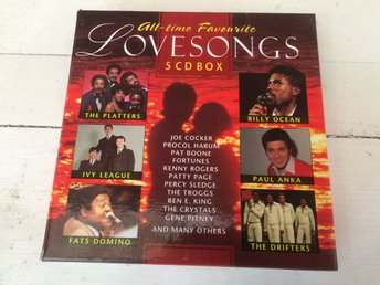 Alltime Favourite Love Songs. CD-box. 5-cd. Masters Music