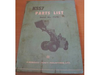 KAWASAKI KSS7 PARTS LIST