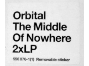 Orbital - The Middle Of Nowhere - UK original DLP