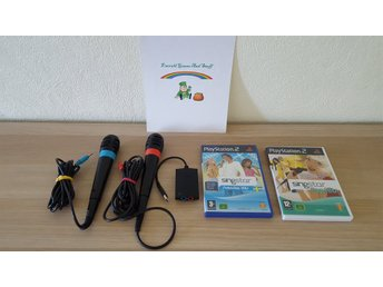 Sony Playstation 2 PS2 Singstar Mikrofoner och spel