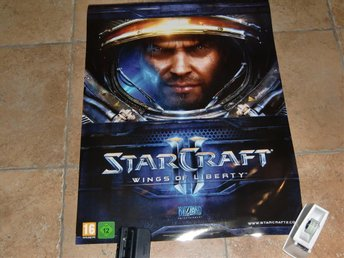 Retro Poster Starcraft 2 Glansig