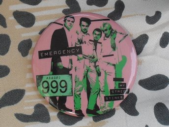 999 -Stor Button Badge / Pin / Knapp (1977, Punk, )