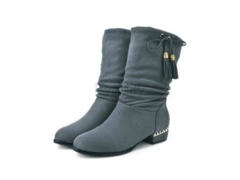 Dam Boots Footwear Warm Heels Woman Boot Shoes Gray 40