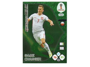 2018 Panini Adrenalyn XL FIFA World Cup Russia Game Changer Arkadiusz Milik