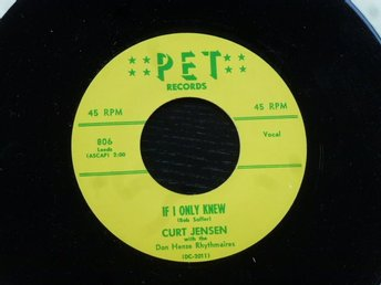 CURT JENSEN - Just for you/ If I only knew  PET USA
