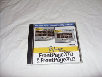Professor Teaches FrontPage 2000 and 2002 PC CD ROM