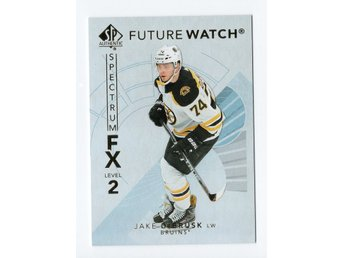 17-18 SP Authentic Spectrum FX Future Watch Bounty Jake DeBrusk