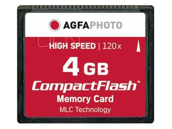 AgfaPhoto Compact Flash      4GB High Speed 120x MLC