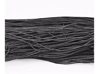 27 mt. Svart tygklädd elastisk tråd 1 mm. Ø i diameter - Solna - 27 mt. Svart tygklädd elastisk tråd 1 mm. Ø i diameter - Solna