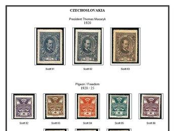 Czechoslovakia STAMP ALBUM PAGES 1920-1992 (325 pages) - Höör - Czechoslovakia STAMP ALBUM PAGES 1920-1992 (325 pages) - Höör
