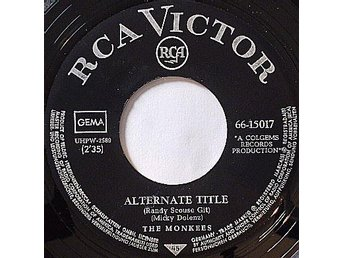 "'""THE MONKEES"" Alternate Title. RCA. 66-15017 1967"