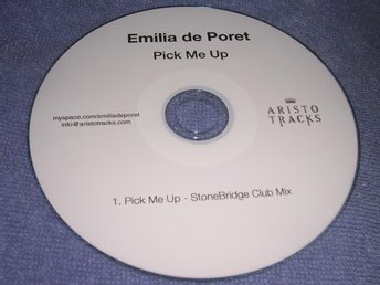 Emilia De Poret - Pick Me Up 1 trk CD-R Promo NM