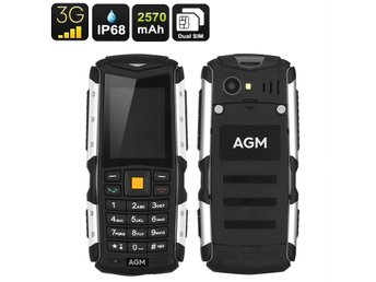 Rugged Mobile Phone AGM M1 - IP68, Dual-IMEI, 3G, Removable Battery 2570mAh, 2MP