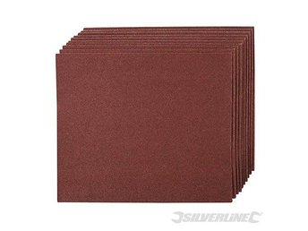 Silverline Emery Cloth Sheets 10pk 60 Grit