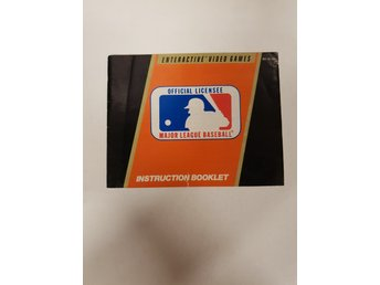 Major League Baseball - Manual NES NINTENDO - USA