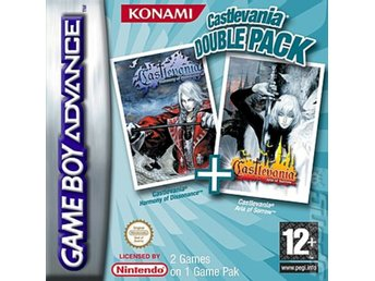 Castlevania Double Pack - Harmony of Dissonance + Aria of Sorrow  - Gameboy Adva