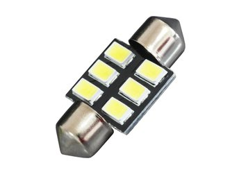 2XDA31 Festoon 6 SMD5630 Car LED Lampor white 6000k Reading Licence Plate Lampa