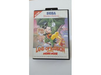 Sega Master System Land of Illusion starring Mickey Mouse retro tvspel samling