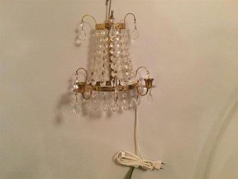 Vägglampor Jugend : Vägglampa med kristaller barock på tradera antika lampor