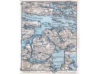 Saltsjöbaden Vaxholm Bo Kapell 1911 orig. small map Bogesund Velamsund Dufnäs - Berlin - Saltsjöbaden Vaxholm Bo Kapell 1911 orig. small map Bogesund Velamsund Dufnäs - Berlin