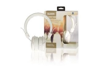 Sweex Hörlurar On-Ear Bluetooth 1.00 m Vit