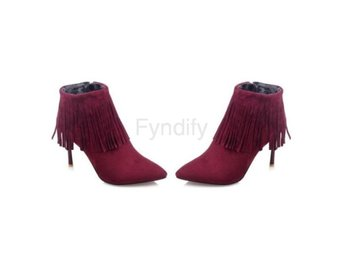 Dam Boots Ladies Brand Tassel Wedding Heels Shoes Red 40