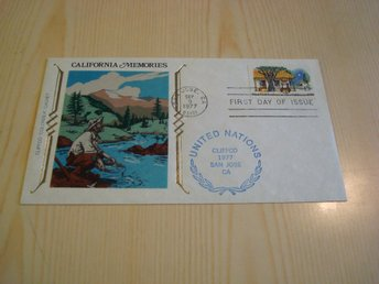 California Gold Rush 1977 USA förstadagsbrev United Nations FN