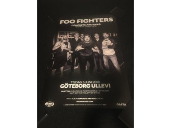 FOO FIGHTERS TURNÉAFFISCH 2018