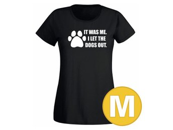 T-shirt I Let The Dogs Out Svart Dam tshirt M