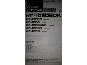 Pioneer KE-1080SDK Orginal Service manual