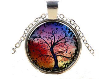 Halsband med Hänge Tree of Life
