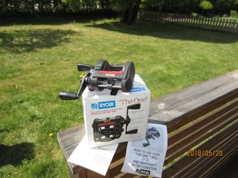 "COLLECTOR REEL RYOBI ""The One"" , new in package."