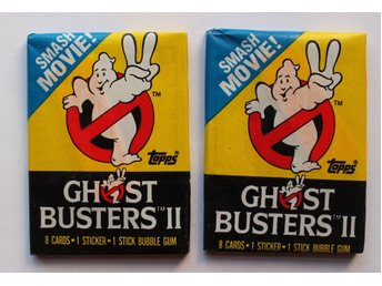 Ghostbusters II  2st.  Oöppnade paket  Topps 1989