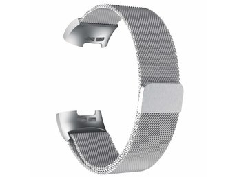 Fitbit Charge 3 armband milanesisk loop - silver - L