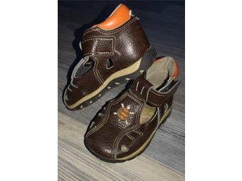 530abe2e6dd KAVAT Sandaler läder 22 högt skaft brun/orange .. (344337569) ᐈ Köp ...