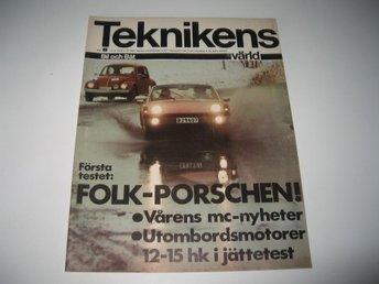 Teknikens Värld 1970-8 Porsche 914 Stor Test..1970 Års MC - Järpås - Teknikens Värld 1970-8 Porsche 914 Stor Test..1970 Års MC - Järpås